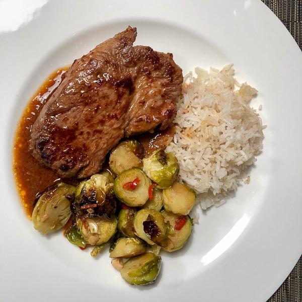 Chile-marinated pork