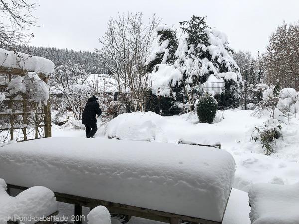 Schnee abräumen