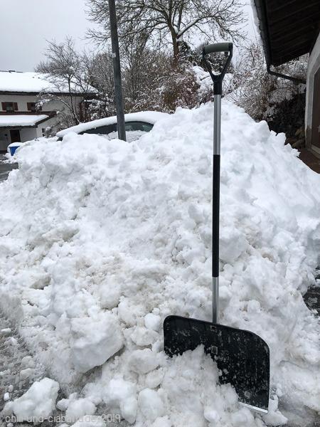Schneehaufen