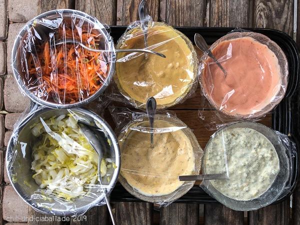 Saucen und Salate