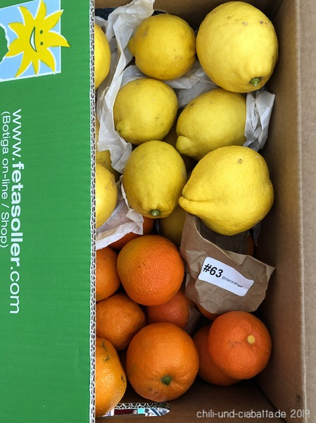 Zitronen und Bitterorangen