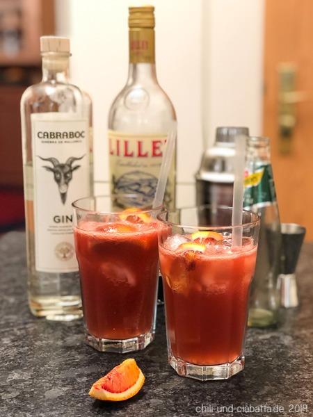 Blutorangen-Gin-Cocktail