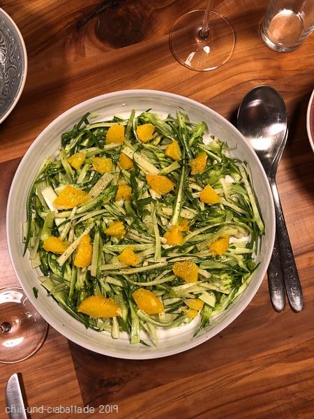 Puntarelle-Salat mit Orangen