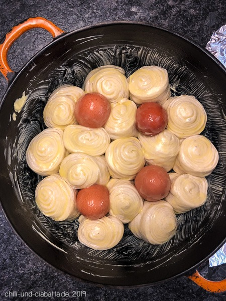 Kubaneh mit Eiern