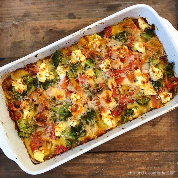Tomaten-Brokkoli-Lasagne