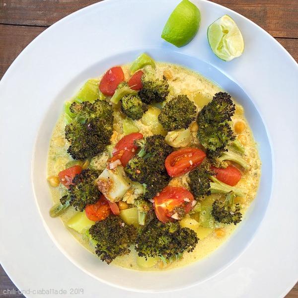 Kichererbsen-Dhal mit Brokkoli