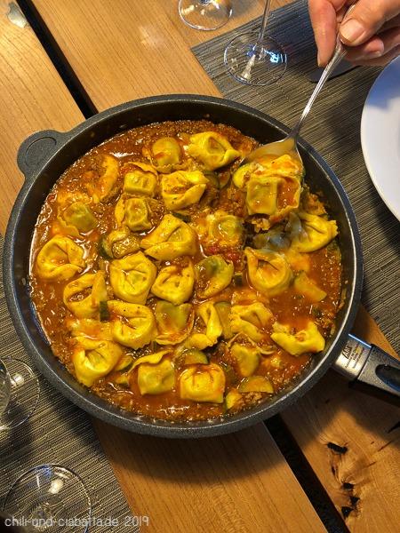 Tortellini Bolo mit Zucchini