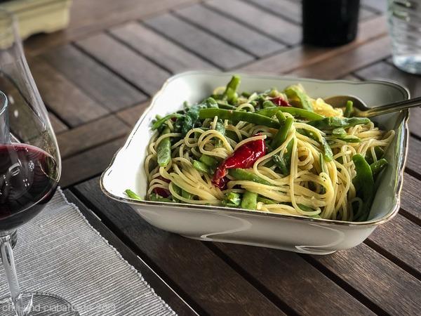 Sardellen-Spaghettini mit Bohnen