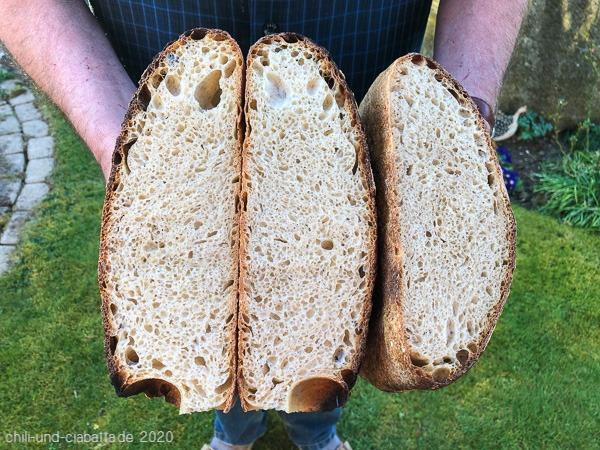 Brote Anschnitt