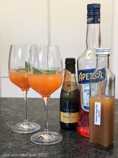Aperol-Rhabarber-Sprizz