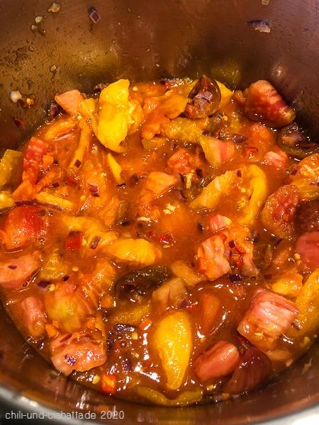 Tomaten-Chili-Konfitüre