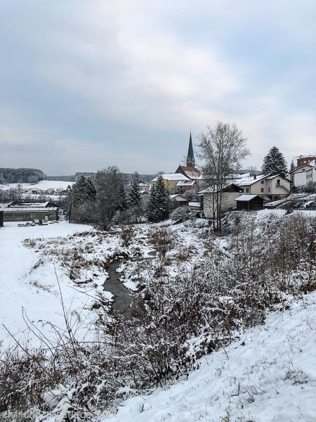 Blick auf Teisnach