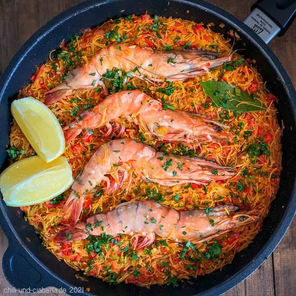 Shrimp-Fideua
