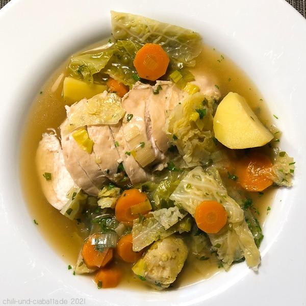 Pikanter Gemüse-Hühnertopf