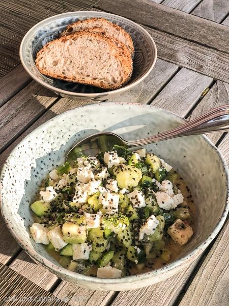 Kiwi-Feta-Salat